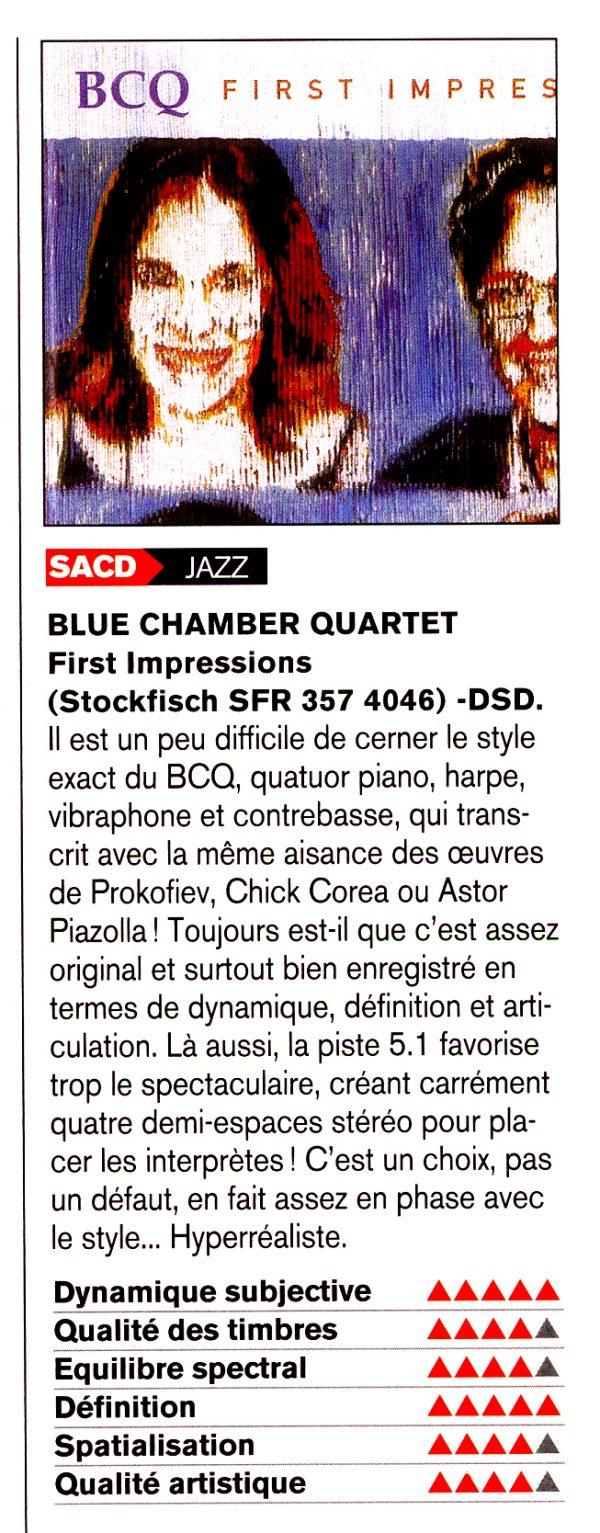 BLUE CHAMBER QUARTET / First Impressions-943