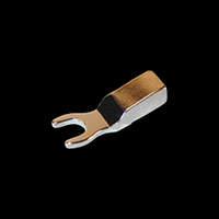 CARDAS – Fourche 6mm pour câble 3,2mm2 – Cuivre plaqué Argent / Rhodium