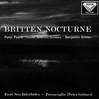 "BRITTEN / Nocturne, ""Four Sea Interlude"" a.o. From ""Peter Grimes"""